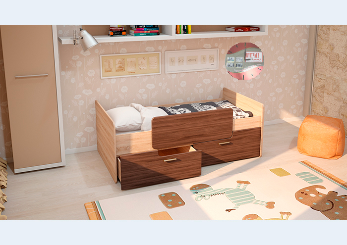 Кровать К-001 МС Умка